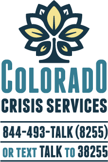 Colorado Crisis Services Logo: Call 844-493-8255
