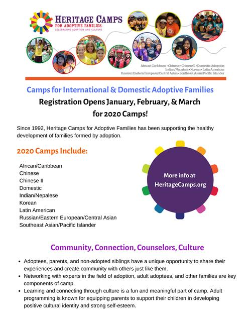 Heritage Camps for Adoptive Families