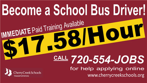 Become a School Bus Driver! $17.58 per hour.