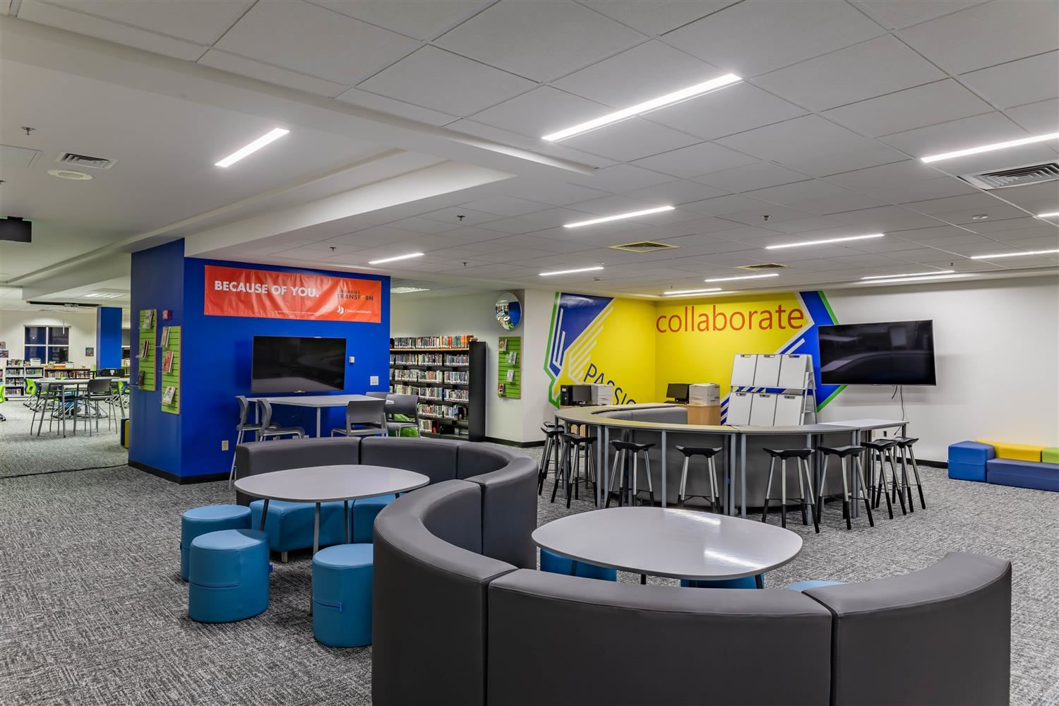 Image of new innovation space at Falcon Creek Middle School
