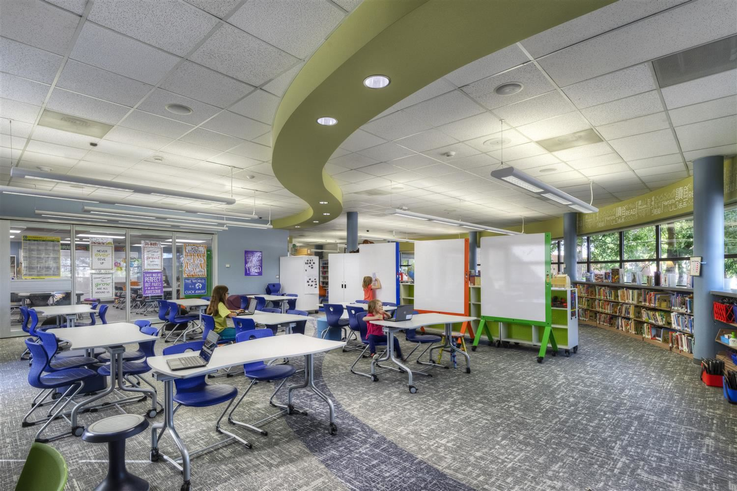 Image of new Innovation space at Belleview Elementary.