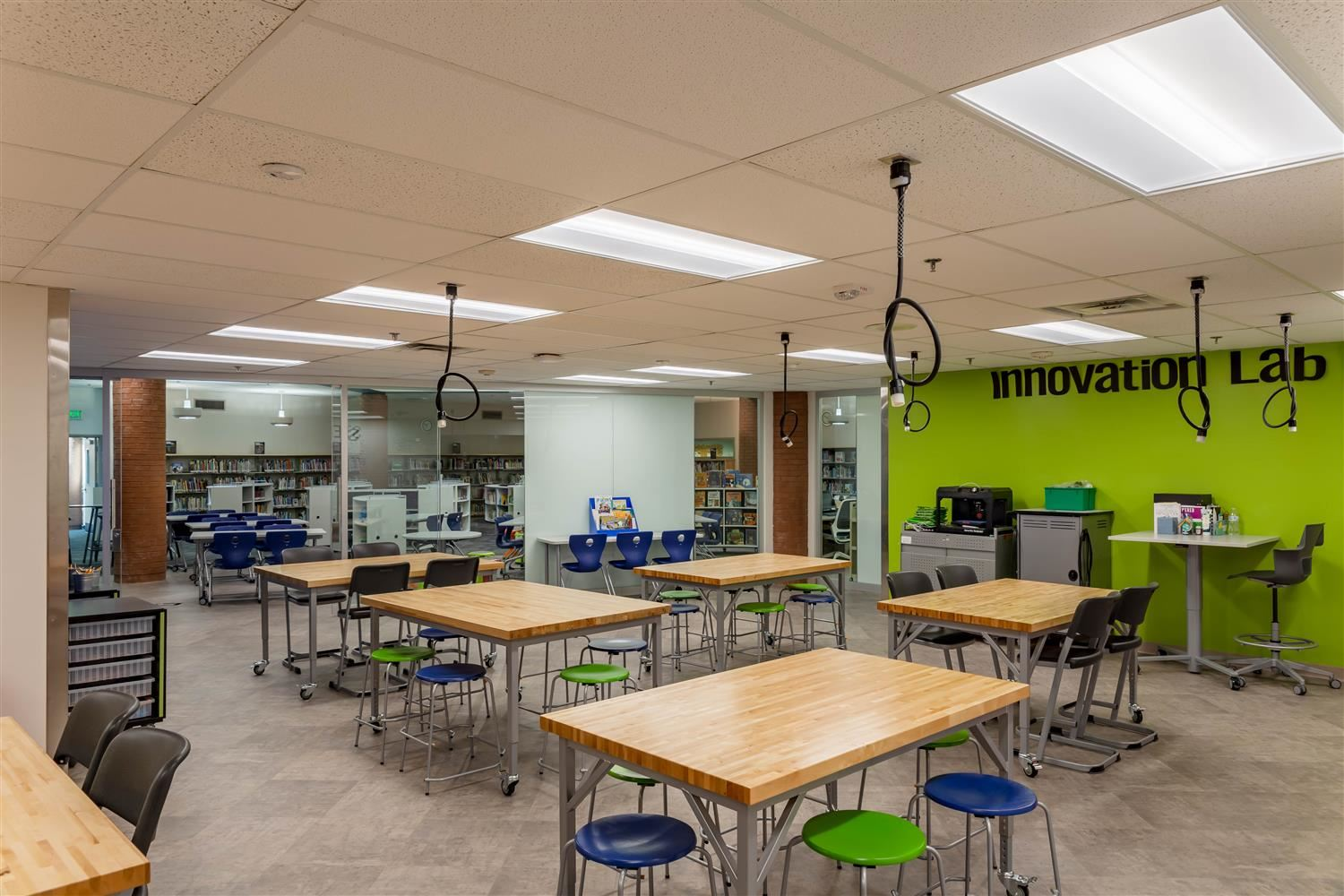Image of new innovation space at Rolling Hills Elementary