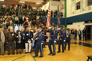 Students, veterans and service members celebrate Vets Week 2017 at Overland High School.