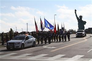 Altitude Elementary stages a parade during Vets Week 2018.