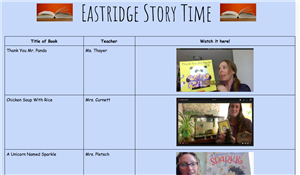 Eastridge Storytime!