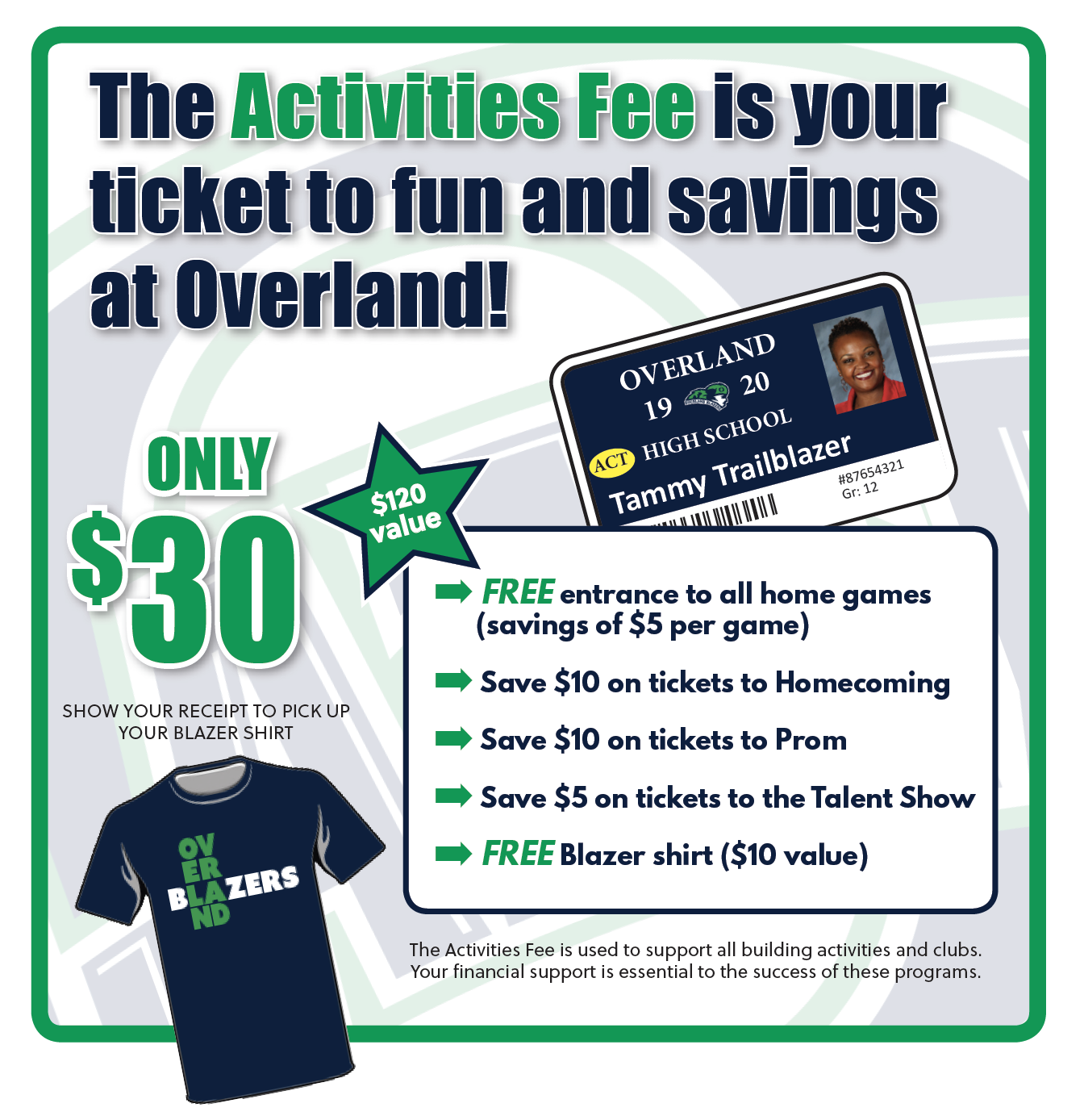 picture of Activities Fee flyer