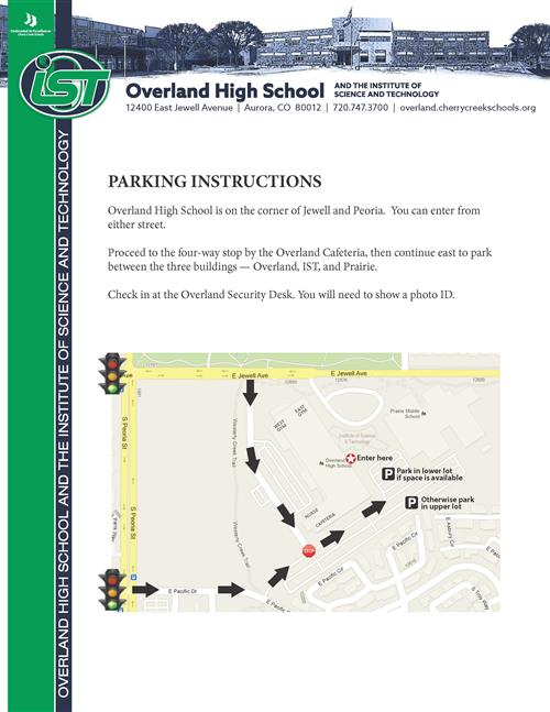 Campus Parking Instructions