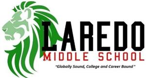 Laredo Middle School logo in block letters
