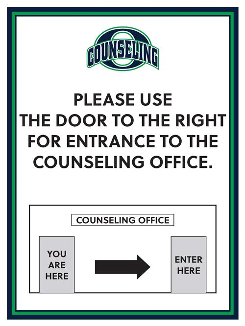 counseling office sign