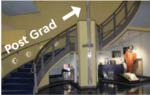 image of staircase leading to Post Grad