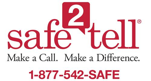 Safe 2 Tell - Call 1-877-542-SAFE