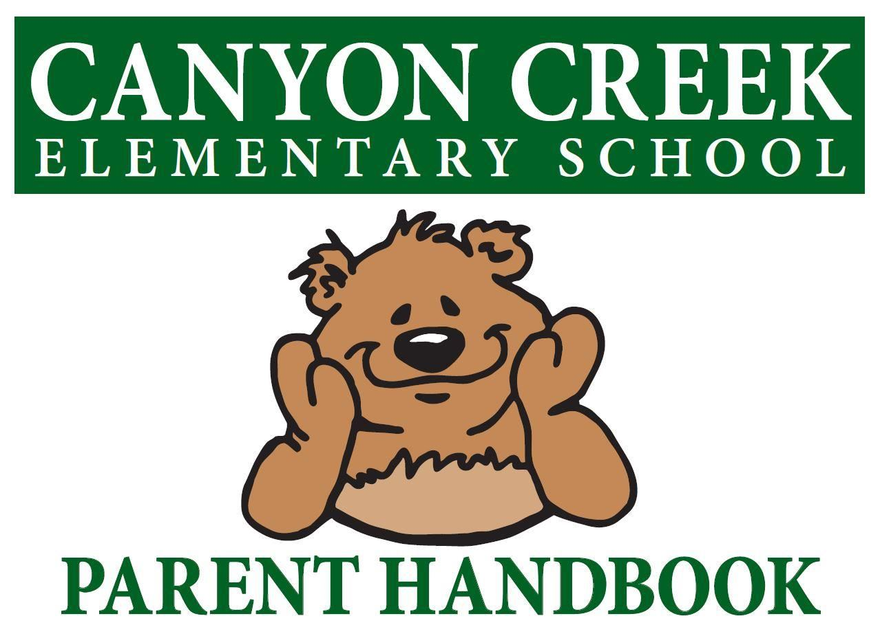 Screenshot of cover of the Canyon Creek Parent Handbook