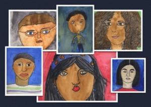 Self portraits by students