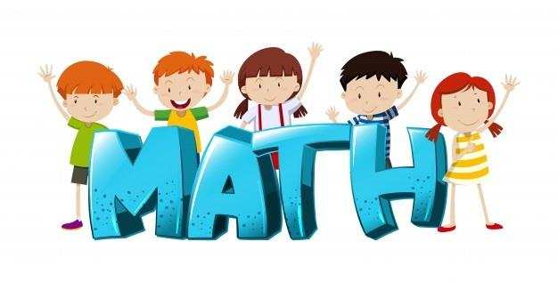 Math clipart with kids