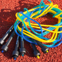 jump ropes lying on ground