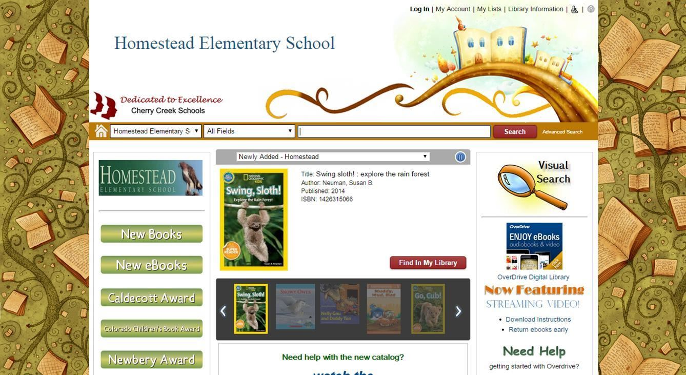 Homestead Library Website
