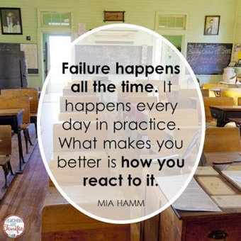 Failure happens quote by Mia Hamm