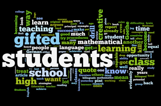 Gifted Students Wordle