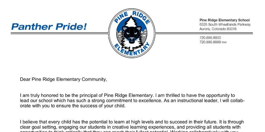 Pine Ridge Elementary School / Homepage