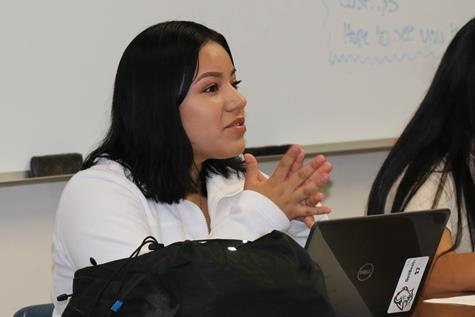Student in Introduction to Chicana and Chicano Studies
