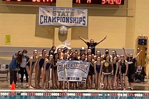 CCHS Swim and Dive Team - 5A State Champions