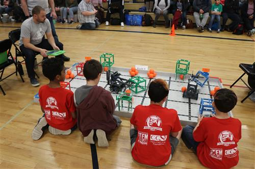 Students compete in the Robocon event on Feb. 29 at West Middle School.