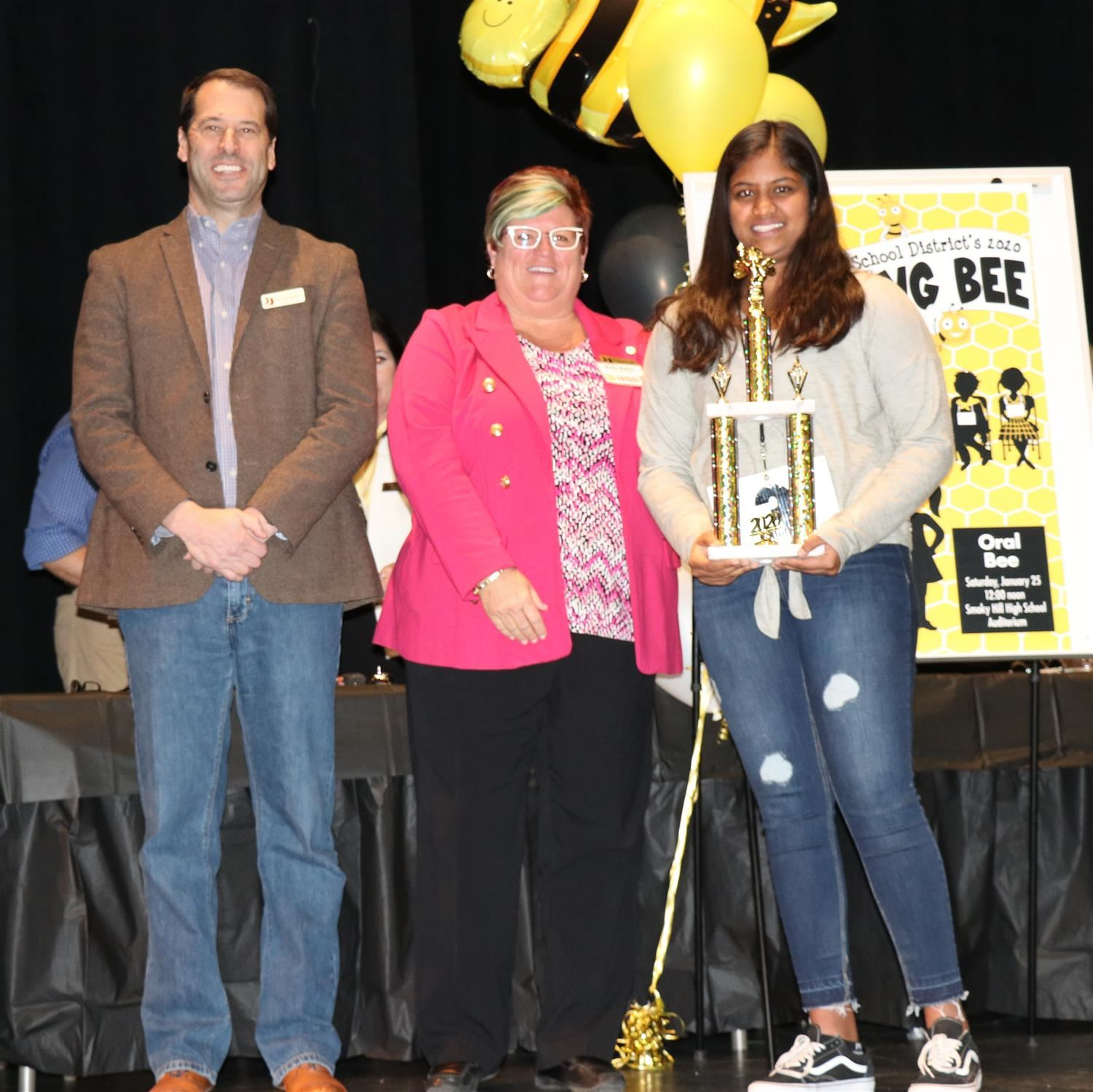 2020 Cherry Creek School District Spelling Bee winner Kanshita Dam