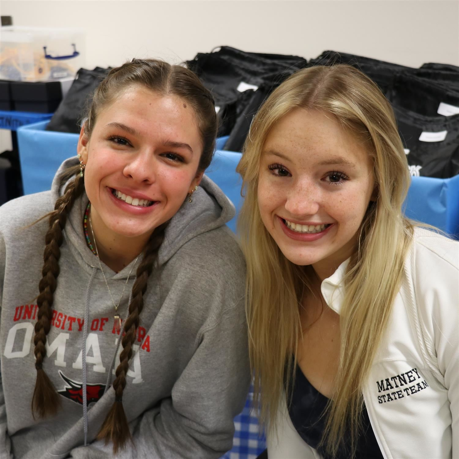 GHS student athletes Hailey Matthews and Julia Matney