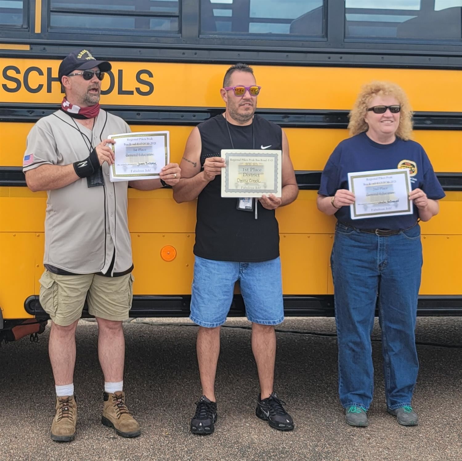 CCSD Road-e-o winners