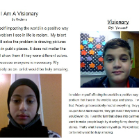 Students write about what it means to be a visionary