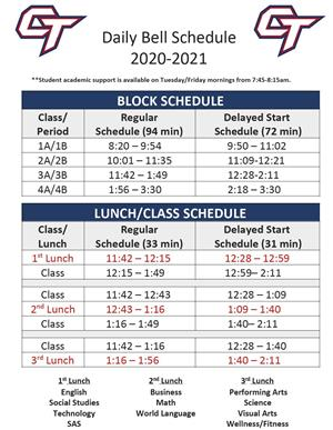 Daily Bell Schedule With Delayed Start Schedule