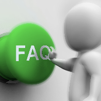 animated person pushing FAQ button