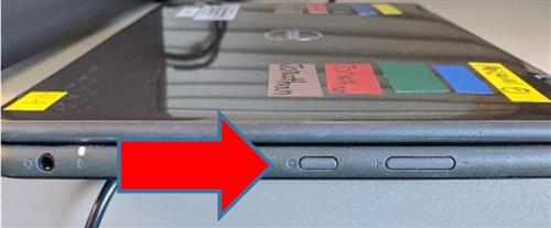image showing power button on laptop