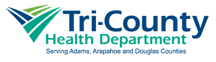 logo for Tri-County Health Department: Serving Adams, Arapahoe and Douglas Counties