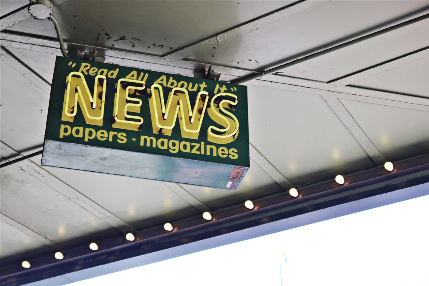Image of a news stand