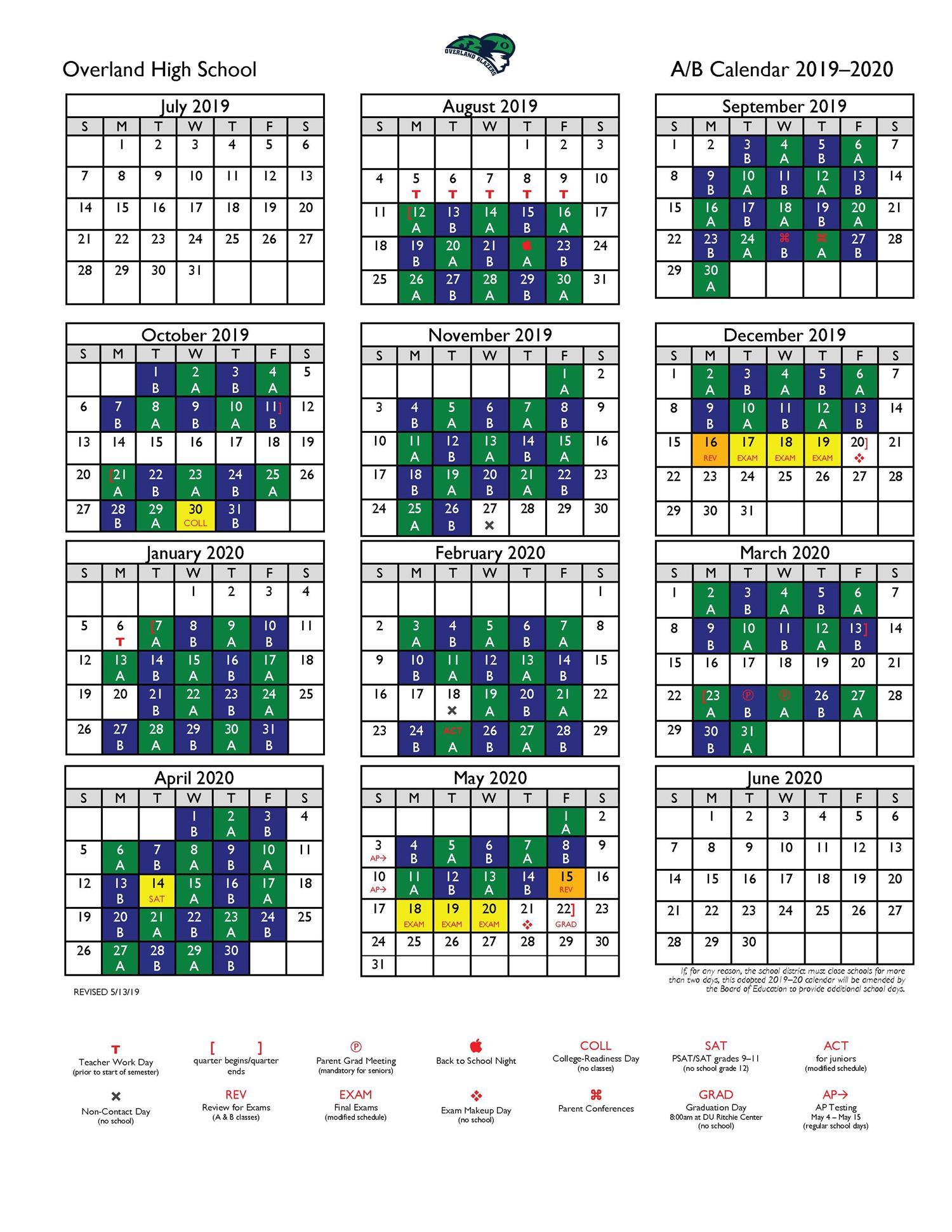 Overland High School / Calendar